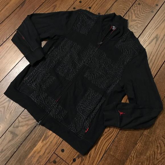 7618db24e0a Jordan Jackets & Coats   Rare Black Cement Patchwork Jacket   Poshmark